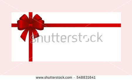 Gift Card Red Ribbon Bow Gift Stock Vector 537467407 - Shutterstock