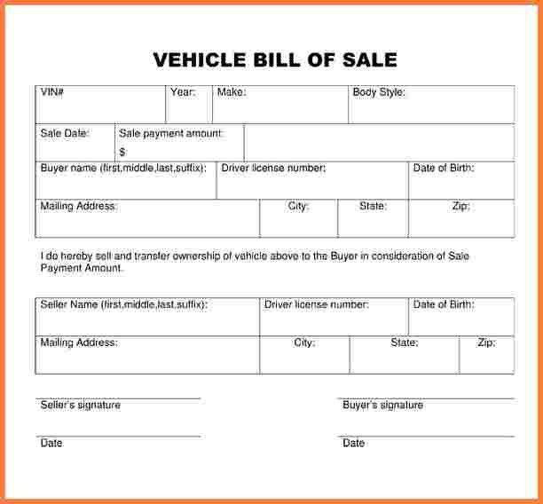 3+ used car bill of sale template word | Simple Cash Bill