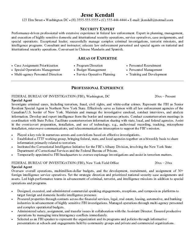 Fbi Agent Resume Example - Ecordura.com