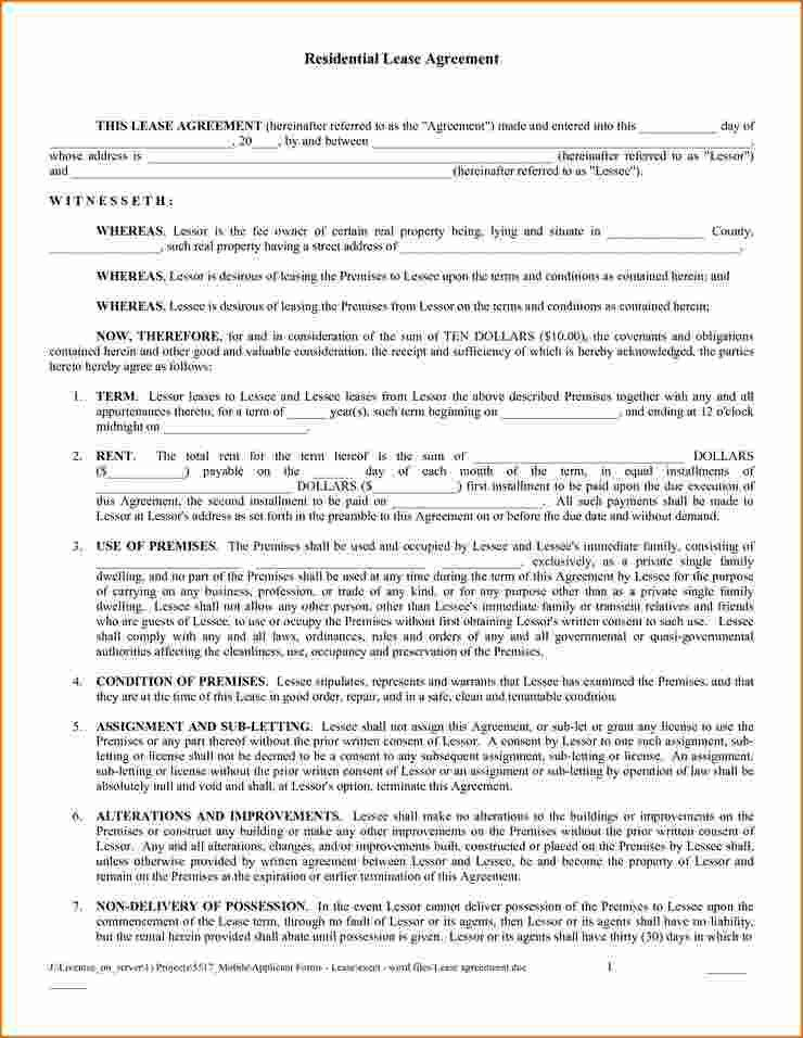 7+ Free Printable Rental Agreement Forms | Printable Receipt