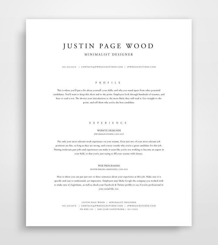 27 best Professional images on Pinterest | Resume templates, Cover ...