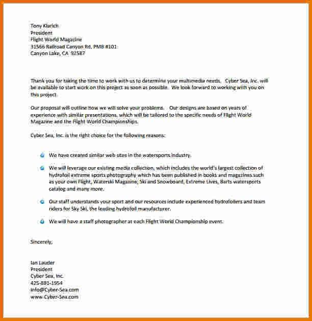 Proposal Letter Pdf. Sample Marketing Proposal Template - 6+ ...