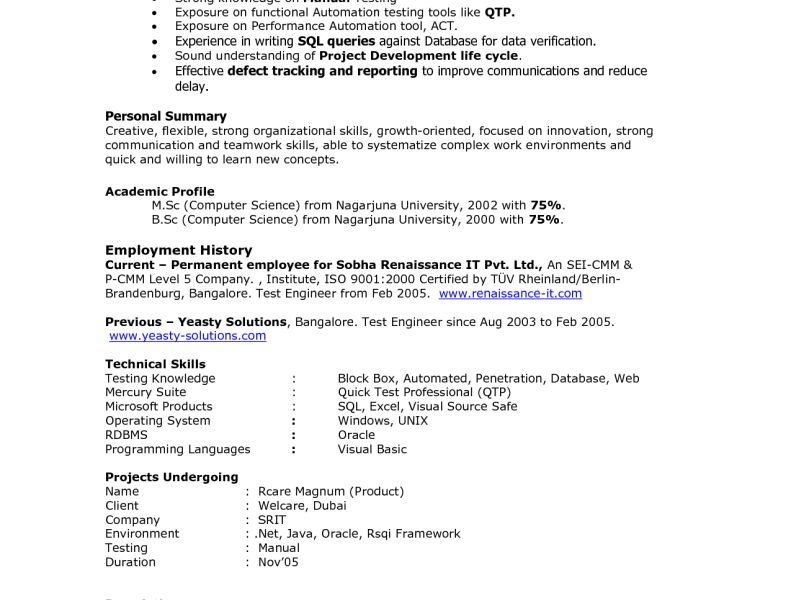Game Test Engineer Sample Resume | haadyaooverbayresort.com