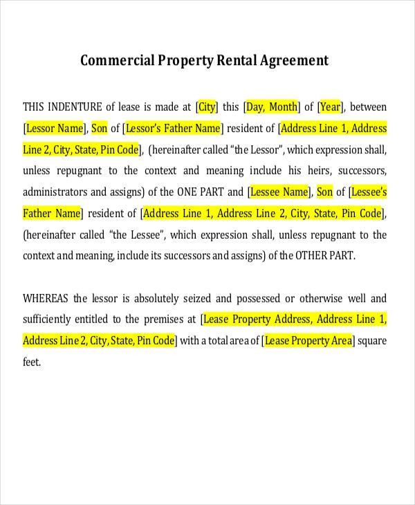 18+ Rent Agreement Format Templates   Free & Premium Templates