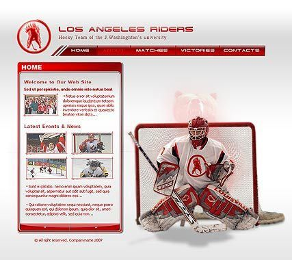 Hockey flash template | Best Website Templates