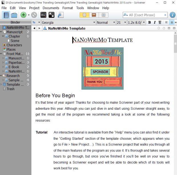 NaNoWriMo Novel Template for Scrivener. | Writing | Pinterest ...