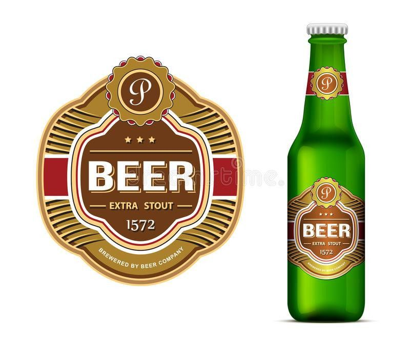 Beer Label Template Stock Vector - Image: 43040652
