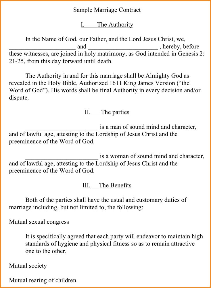 Marriage Contract Sample.marriage Agreement Contract Sample 19.png ...