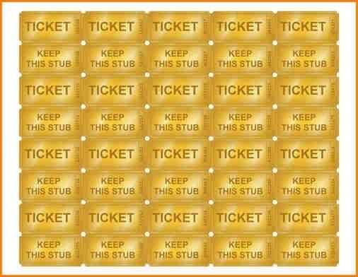 6+ printable tickets | writable calendar