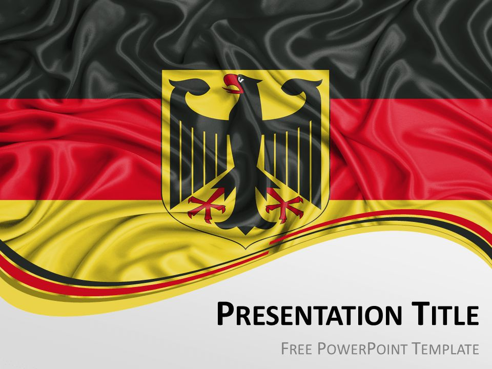 Germany Flag PowerPoint Template - PresentationGO.com