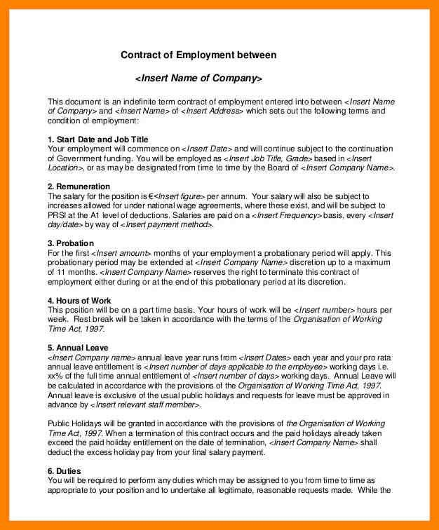 6+ employment contract template doc | day care receipts