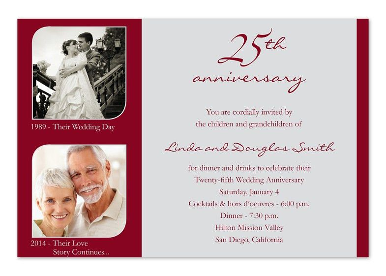 Card Invitation Ideas. 25 Wedding Anniversary Invitation Cards ...