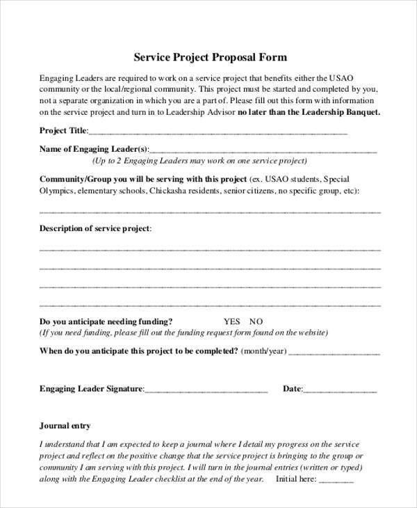Sample Service Proposal Forms - 8+ Free Documents in Word, PDF