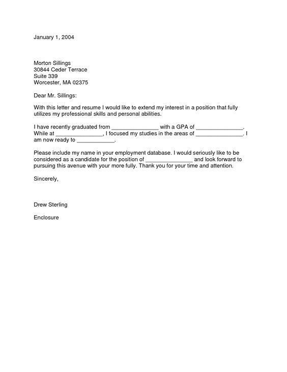Cover Letter New Graduate Nurse