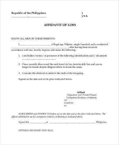 Sample Affidavit Forms in PDF - 23+ Free Documents in PDF