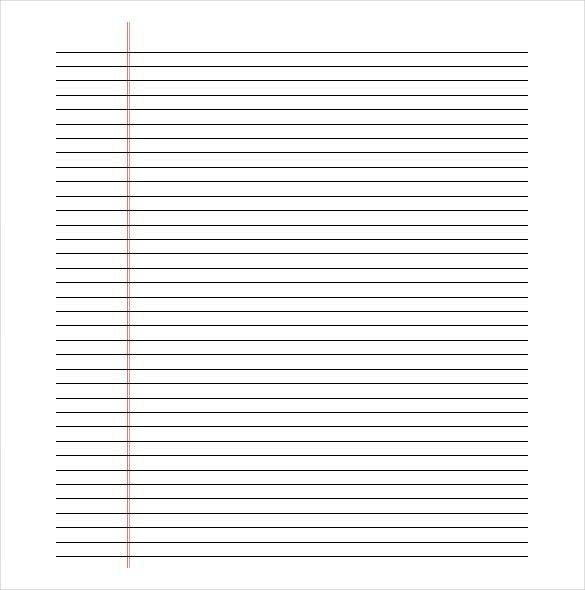 Printable Lined Paper - gameshacksfree