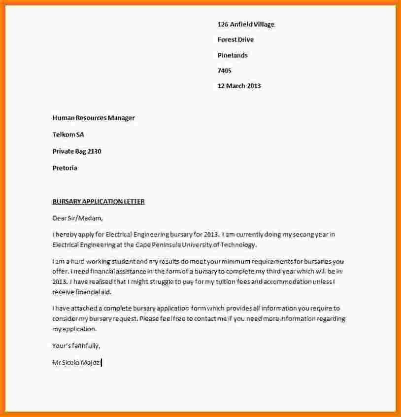6+ motivation letter for bursary sample pdf | receipts template
