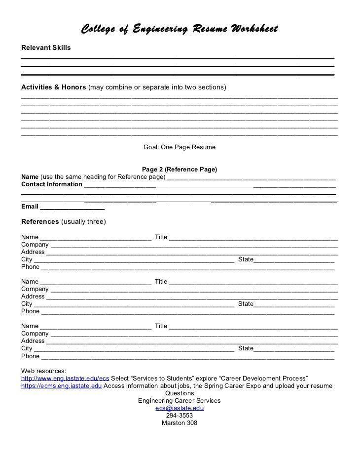 Amazing Resume Worksheet Template. Sample First Job Resume Examples Career .