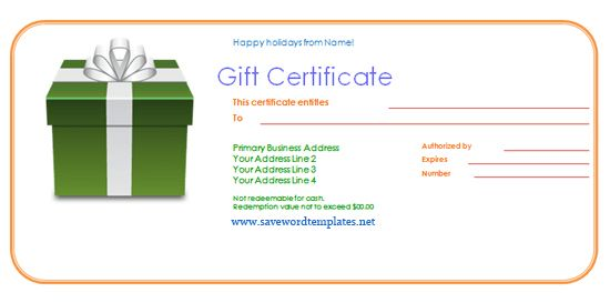 Free Gift Certificate Templates