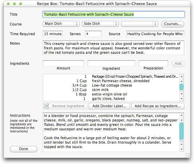 Cook from Your Mac: 10 Recipe Tools Compared - TidBITS