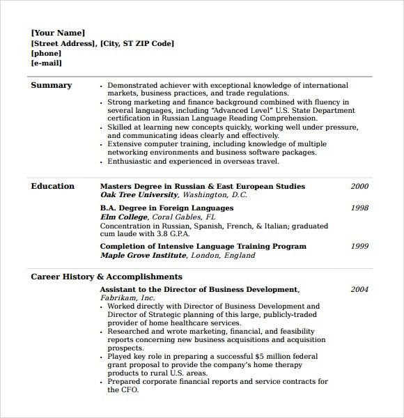 Sample College Resume - 8+ Free Samples, Examples, Format