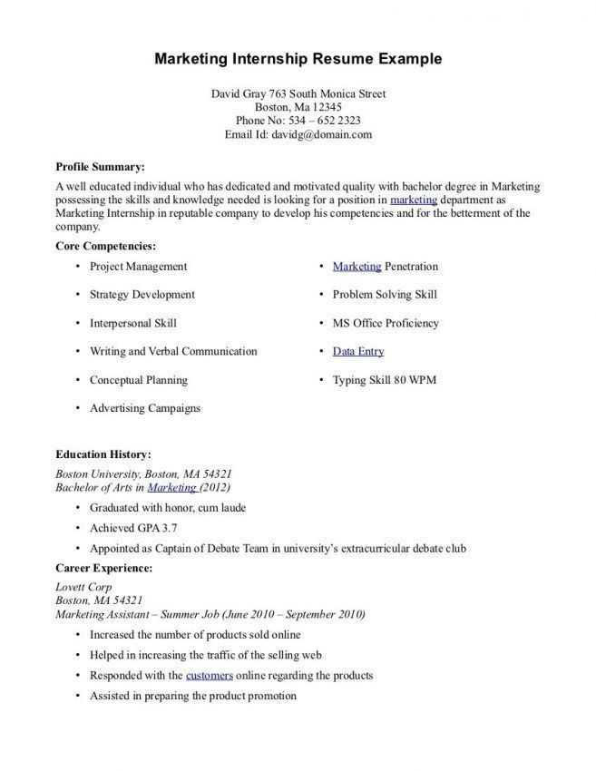 7 College Student Resume For Internship Resume college student ...