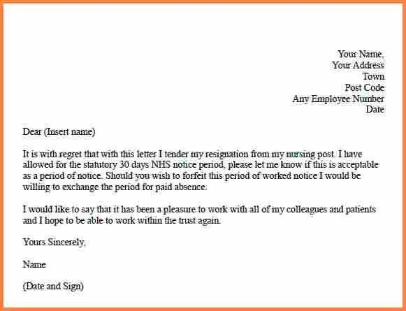 6+ resignation letter example nursing | Resign Letter Job