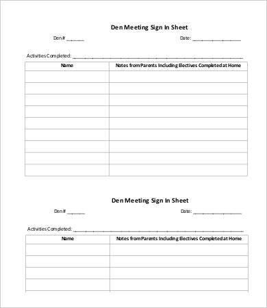 Template For Sign In Sheet  BesikEightyCo