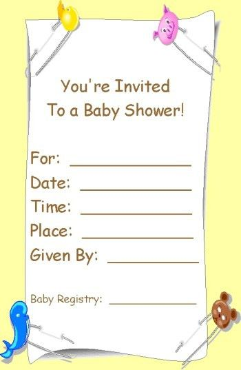 Baby Shower Invitations: Printable Baby Shower Invites Template ...