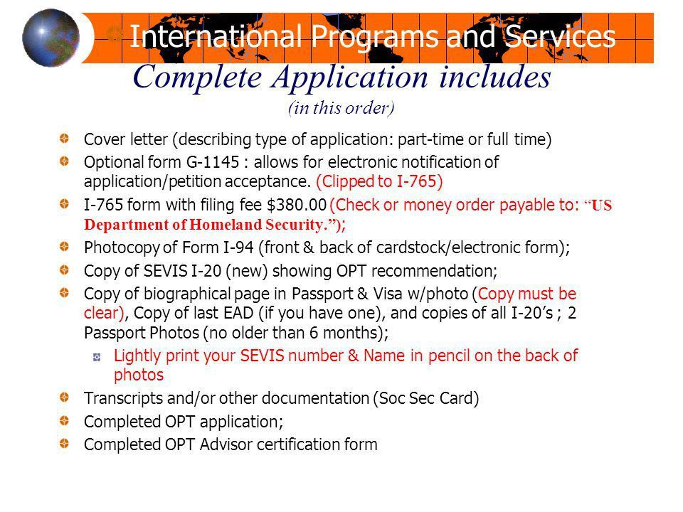 OPT Workshop Office for International Programs and Services - ppt ...