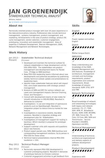 Technical Resume samples - VisualCV resume samples database
