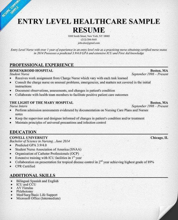 Super Idea Entry Level Nursing Resume 9 Entry Registered Nurse ...