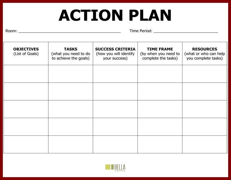14+ plan of action format | sendletters.info