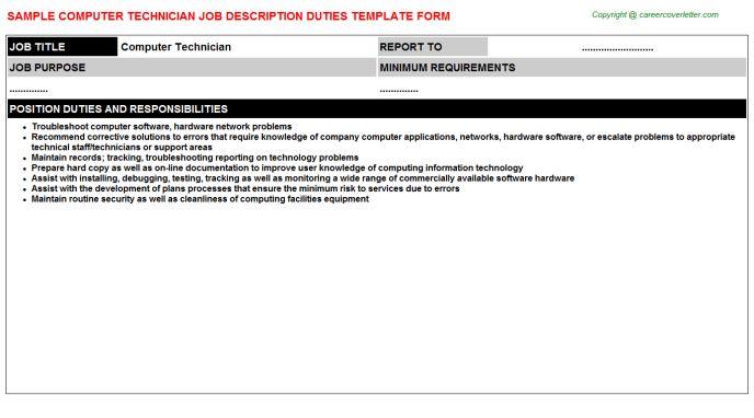 Computer Technician Job Title Docs