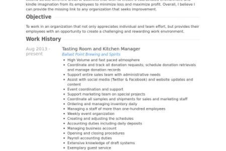 Kitchen Manager Resume Format - Reentrycorps
