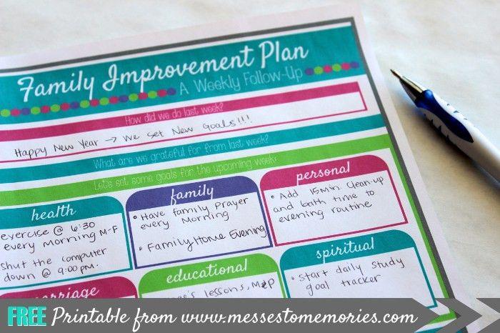 FAMILY IMPROVEMENT PLAN