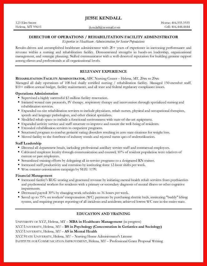Healthcare Administrator Resume Sample. administration resume ...