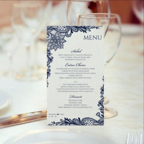 Wedding Menu Templates (4x7)