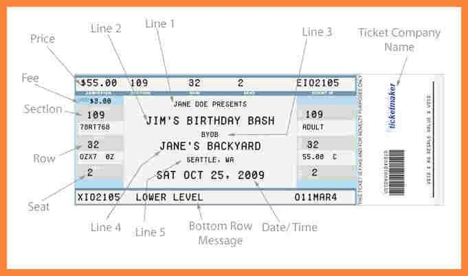 Concert Ticket Template. 50Th Birthday Concert Ticket Photo Card ...