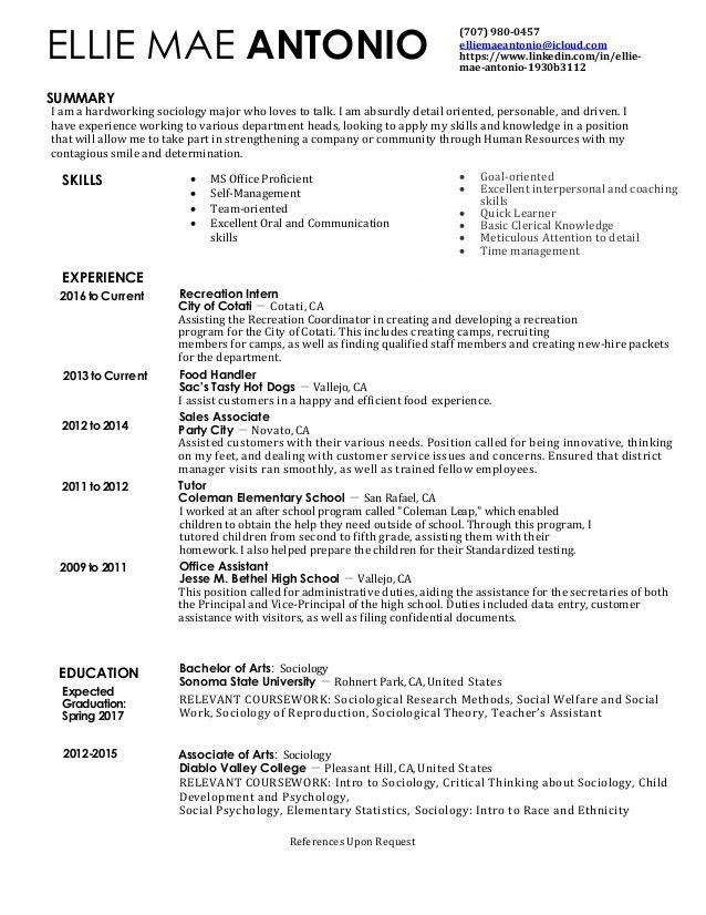 Ellie Mae HR Resume pdf