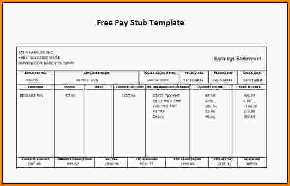 14+ free paystub template | Letter Template Word