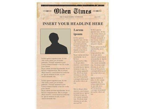 Editable Newspaper Template – Portrait