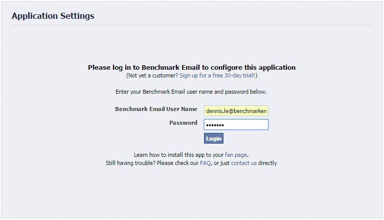 """How to Add the """"Signup Form"""" App to Your Facebook Fan Page ..."""