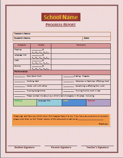 progress report template | Progress Report Template | Microsoft ...