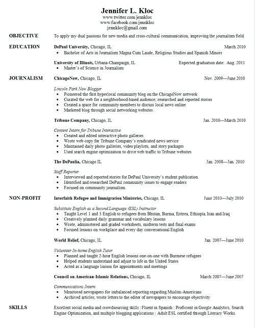 Sample Resume For Highschool Graduate With Little Experience ...