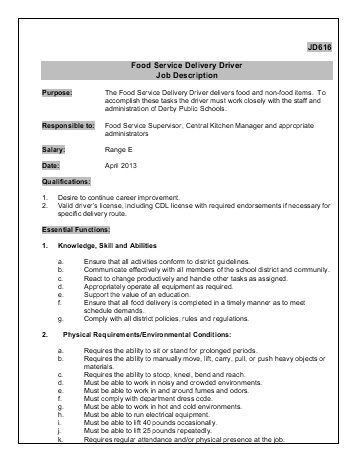 Delivery Driver Job Description. Learn All About Delivery Driver ...