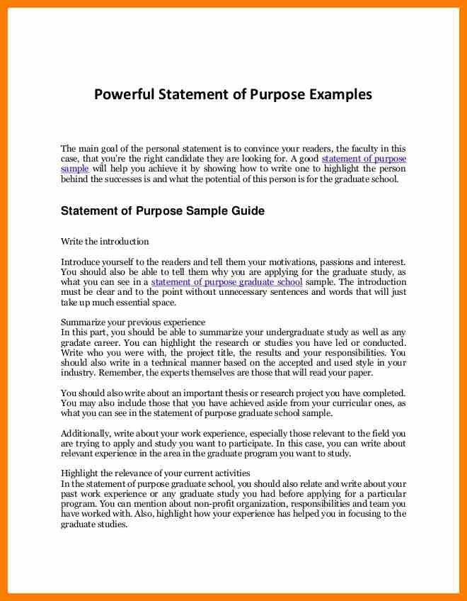 12+ statement of purpose format | science-resume