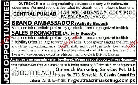 Brand Ambassador and Sales Promoter Job Opportunity 2017 Jobs ...