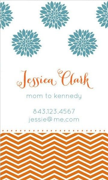 Business Cards for Women | Cute Mommy Business Cards | Cute ...
