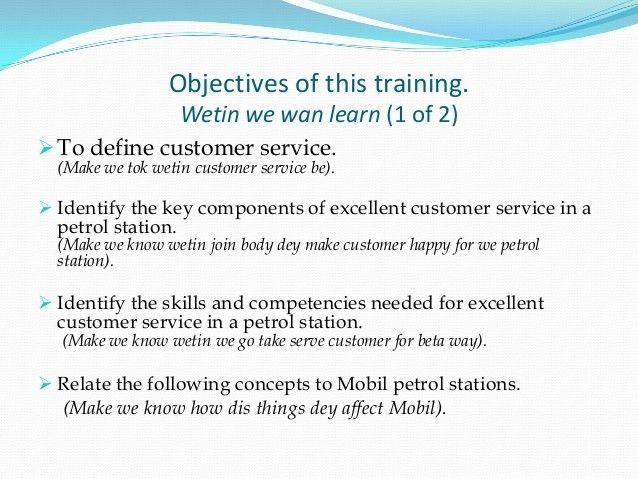 Customer service training for mobil filling station attendants(1)